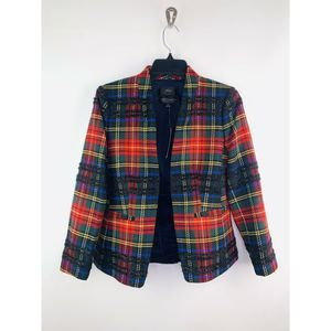 J. Crew Going Out Blazer Stewart Tartan Plaid